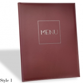 Protège Menu Restaurant Collection NEW DELHI A4 STANDARD
