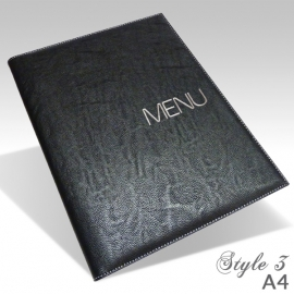 Protège Menu Restaurant Collection BYZANCE A4 STANDARD