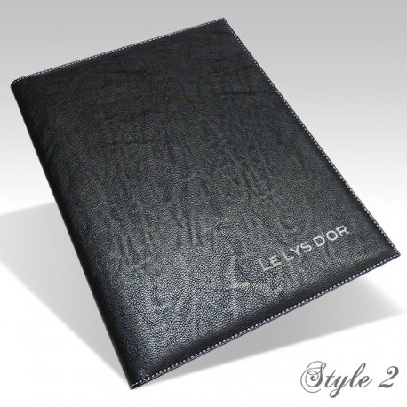 Protège Menu Restaurant Collection BYZANCE A4 PERSONNALISE