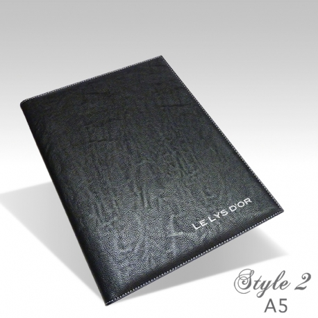 Protège Menu Restaurant Collection BYZANCE A5 PERSONNALISE