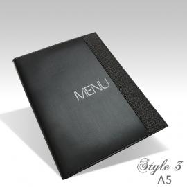Protège Menu Noir - Standard PARIS A5