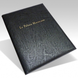 Protège Menu Restaurant Collection BYZANCE A4 SUR-MESURE