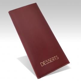 Protège Menu Standard NEW DELHI A4S Desserts - Bordeaux