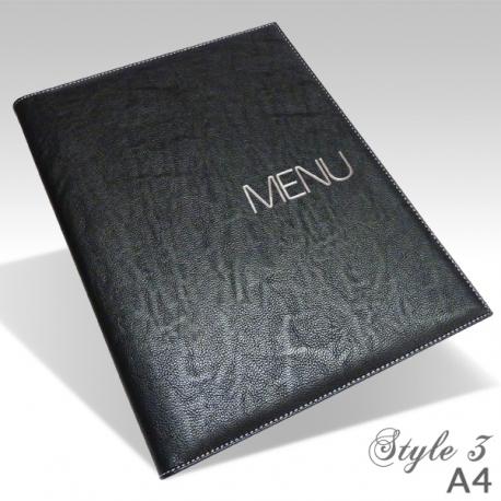 Protège Menu Restaurant Collection BYZANCE A4 STANDARD