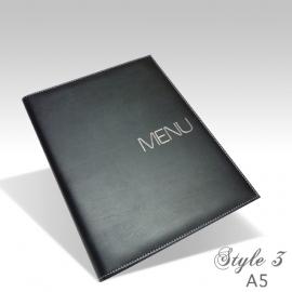 Protège Menu Noir - Standard NEW YORK A5