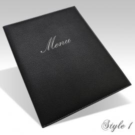 Protège Menu Noir - Standard GENEVE A4