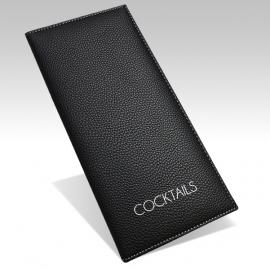Protège Menu Standard GENEVE A4S Cocktails - Noir