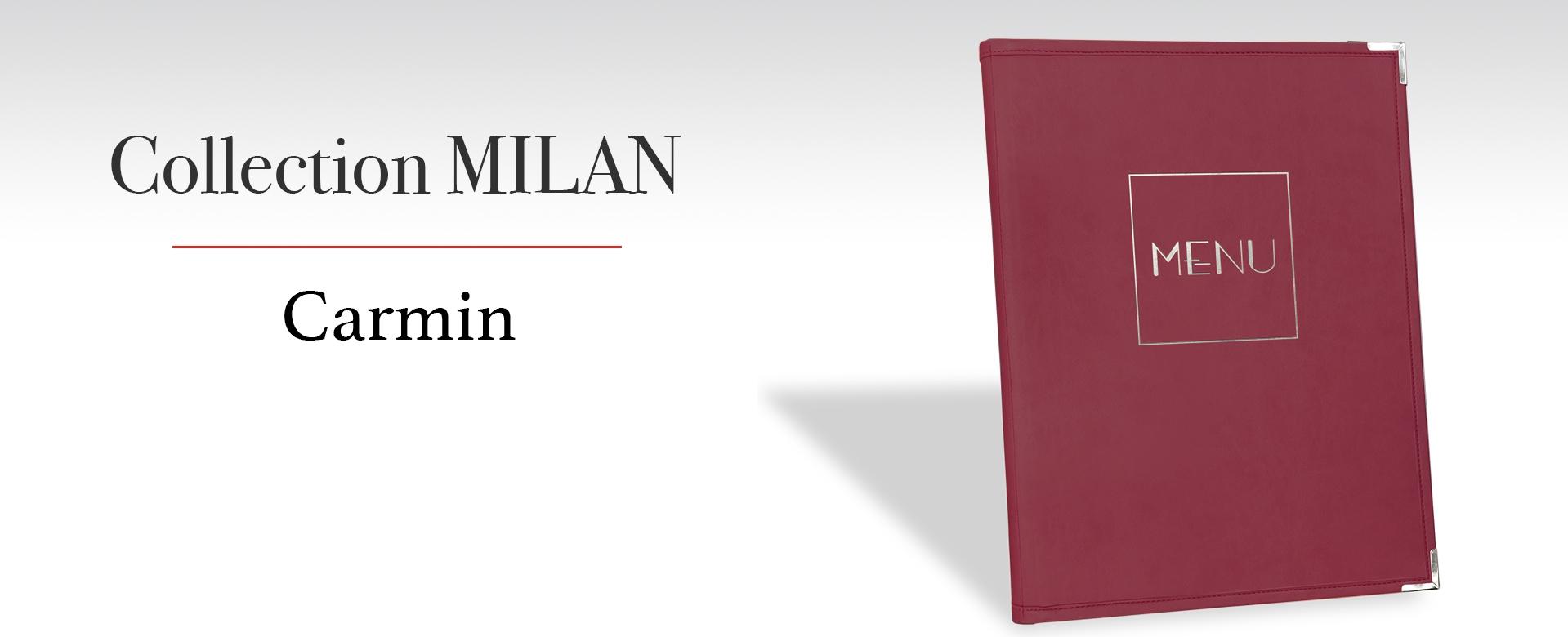 Protege-menu Carmin Café Hôtel Restaurant MILAN